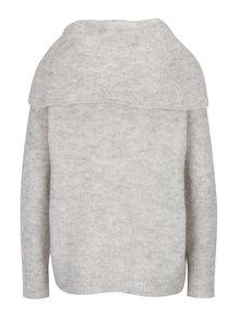 Svetlosivý oversize sveter s prímesou vlny ONLY Bergen