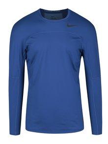 Tmavě modré pánské funkční tričko s dlouhým rukávem Nike