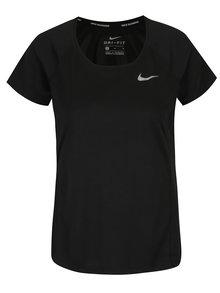 Černé dámské funkční tričko s krátkým rukávem Nike
