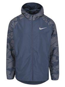 Modrá vzorovaná pánská funkční bunda Nike