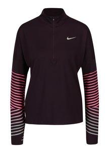 Tmavě fialové dámské funkční tričko s dlouhým rukávem Nike