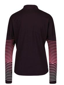 Tmavofialové dámske funkčné tričko s dlhým rukávom Nike Element Flash