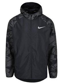 Čierna vzorovaná pánska funkčná bunda Nike