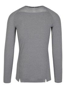 Sivé pánske kompresné tričko s dlhým rukávom Nike
