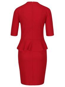 Červené šaty s volánikom ONLY Lona