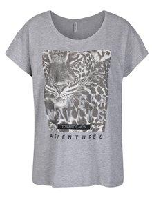 Svetlosivé tričko s potlačou Blendshe Leona