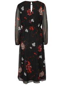 Černé květované šaty ONLY Oda