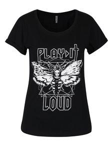 Čierne tričko s potlačou Blendshe Scully