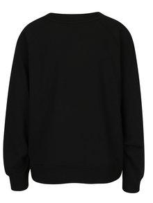 Bluza negru&alb cu print text ONLY Beatrice