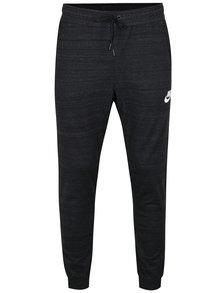 Tmavě šedé pánské žíhané slim fit tepláky Nike