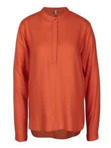 Oranžová blúzka s dlhým rukávom Blendshe Jose