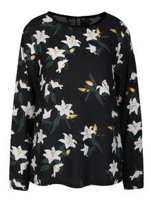 Černá květovaná halenka s knoflíky na  zádech  Blendshe Johanna
