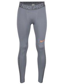 Sivé pánske funkčné legíny Nike