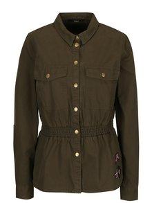 Jacheta din denim kaki cu aplicatii army ONLY Armor
