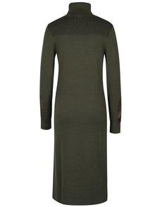 Kaki dámske svetrové šaty s rolákom Calvin Klein Jeans Dean