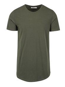 Kaki basic tričko pod košeľu Jack & Jones Premium Hugo