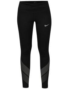 Černé dámské funkční legíny s reflexními prvky Nike