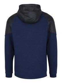 Černo-modrá pánská mikina s kapucí Nike