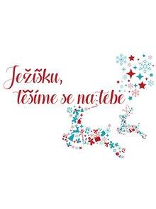 Vánoční samolepka na okno HEZKÝ SVĚT Ježíšek