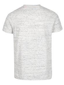 Světle šedé pánské žíhané tričko s krátkým rukávem Superdry Orange
