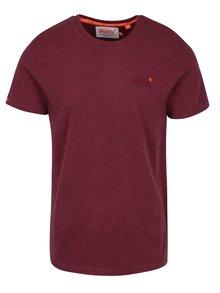 Vínové pánské tričko s krátkým rukávem Superdry Orange