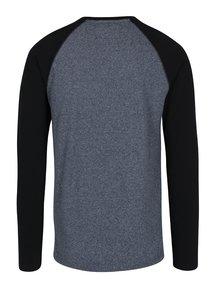 Černo-modré pánské tričko s dlouhým rukávem Superdry Orange