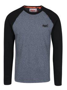 Čierno-modré pánske tričko s dlhým rukávom Superdry Orange