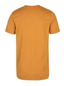 Oranžové pánské tričko s potiskem Superdry Stacker
