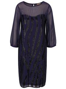 Tmavomodré šaty s flitrami M&Co