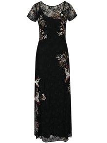 Černé krajkové maxišaty s výšivkami 2v1 M&Co