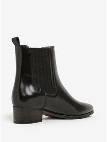 Čierne dámske kožené chelsea topánky GANT Linn