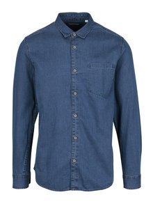 Modrá slim fit košile s náprsní kapsou ONLY & SONS Tonni