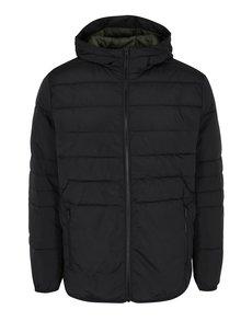 Čierna prešívaná bunda s kapucňou Jack & Jones Core Bin