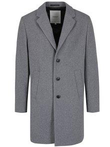 Šedý vlněný kabát Jack & Jones Premium Martin