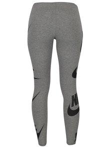 Colanti sport gri cu print pentru femei - Nike Sportswear Futura