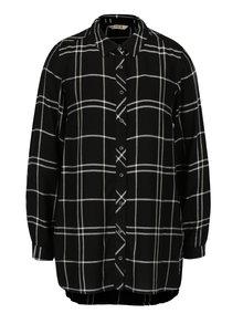 Camasa asimetrica negru&alb in carouri  M&Co