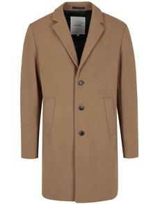 Palton maro deschis din amestec de lana - Jack & Jones Premium Martin