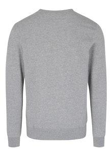 Bluza gri melanj cu aplicatie text in relief - Jack & Jones Premium Thomas
