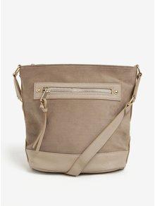 Béžová malá crossbody kabelka se semišovými detaily Dorothy Perkins