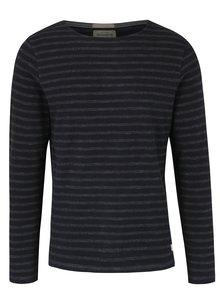 Bluza din bumbac cu dungi negre & gri pentru barbati - Jack & Jones Vintage Ellis