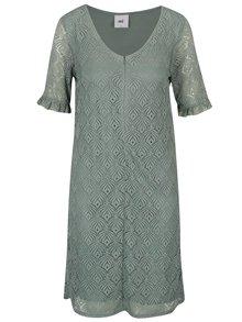 Svetlozelené čipkované šaty na kojenie Mama.licious Lucy