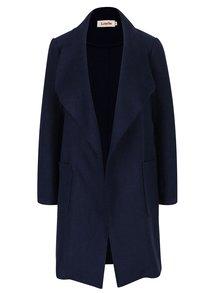 Tmavě modrý lehký kabát s příměsí vlny Louche London