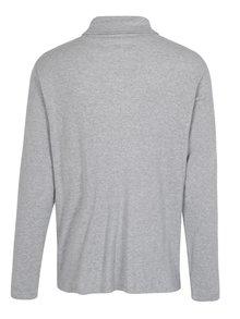 Sivé melírované rebrované tričko s rolákom Lindbergh
