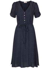 Tmavomodré šaty s motívom sŕdc Louche London