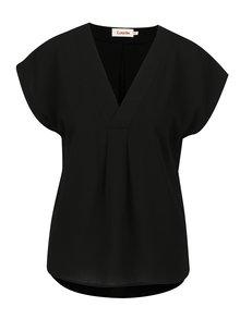 Bluza neagra cu decolteu anchior Louche London