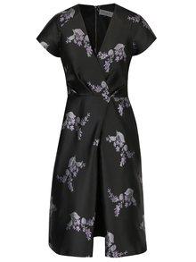 Černé květované  šaty Closet