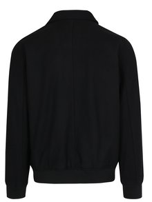 Čierna zimná vlnená bunda s golierom Lindbergh