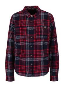 Modro-červená dámská kostkovaná košile Superdry Lumber