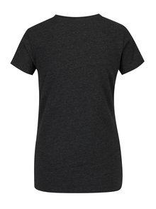 Tricou gri cu model din paiete pentru femei - Superdry Vintage