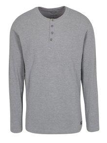 Sivé tričko s gombíkmi Lindbergh